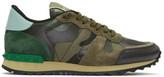 Valentino Green Camo Rockrunner Sneakers