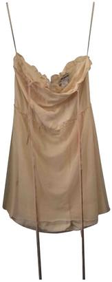 Charles Anastase Beige Silk Dress for Women