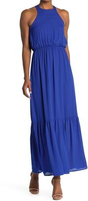 NSR Gwen Halter Neck Maxi Dress