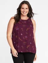 Old Navy High-Neck Plus-Size Trapeze Tank