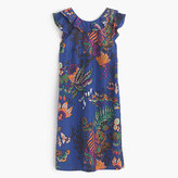 J.Crew Ruffle dress in tropical floral