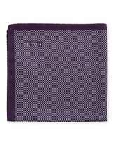 Eton Polka-Dot Silk Pocket Square, Purple