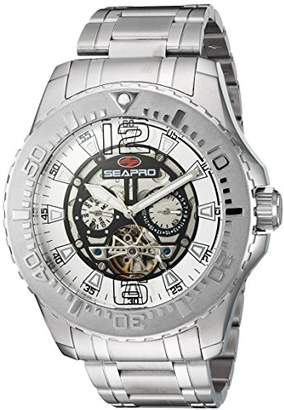 Seapro Men's SP3310 Tidal PX1 Analog Display Automatic Self Wind Silver Watch