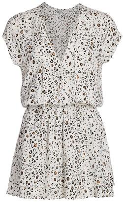 Rails Karla Leopard Print Blouson Dress