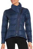 CeCe Asymmetrical-Zip Down Puffer Coat