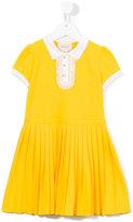 Gucci Kids - pleated dress - kids - Cotton/Spandex/Elastane - 4 yrs