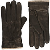 Barneys New York Men's Cashmere-Lined Deerskin Gloves-BLACK