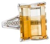 Ring Citrine & Diamond Cocktail