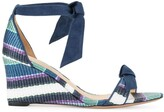 Alexandre Birman striped wedge sandals
