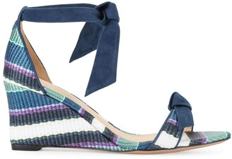 Alexandre Birman striped wedge sandals