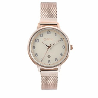 OWL Women's Analogue Japanese Quartz Watch with Stainless Steel Strap S8MRM