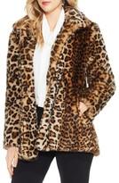 Vince Camuto Women's Leopard Print Faux Fur Jacket