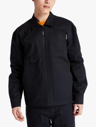 Timberland Workwear Patch Pocket Zip Up Jacket, Black