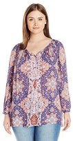 Lucky Brand Women's Plus-Size Patterned Top