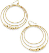 Thalia Sodi Gold-Tone Beaded Multi-Row Drop Hoop Earrings, Only at Macy's