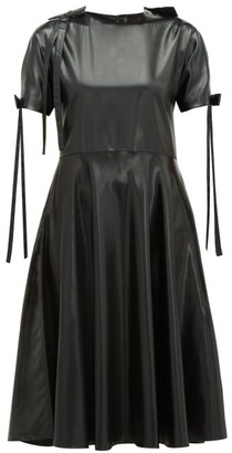 Sara Lanzi Bow-embellished Pvc Dress - Womens - Black