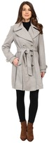 Jessica Simpson Double Breasted Trench Jacket w/ Pleated Skirt Women's Coat