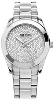 So&Co Women&s Madison Crystal Accented Bracelet Watch