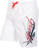 Speedo Quick Dry Junior Boys Kids Swimming Swim Board Shorts - White - L