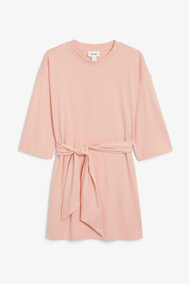 Monki Tie-waist dress