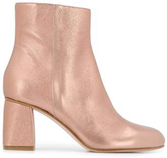 RED Valentino RED(V) metallic ankle boots