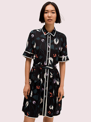 Kate Spade Deco Bloom Short Sleeve Shirtdress