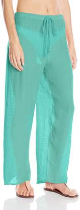 Pure Style Girlfriends Women's Rayon Feather Light Cover Up Pants