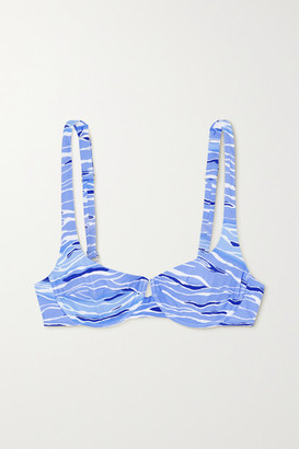 Fisch + Net Sustain Grenadins Printed Underwired Bikini Top - Blue