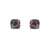Faceted Square Studs