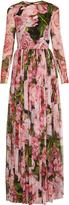 Dolce & Gabbana Rose-print silk-chiffon gown