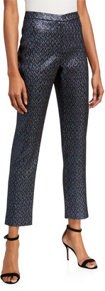 Zac Posen Metallic Jacquard Dress Pants