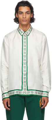 Casablanca White Silk La Fleur De LOranger Shirt