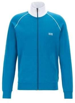 BOSS Regular-fit loungewear jacket in stretch cotton