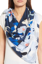 Halogen Kelley Floral Square Silk Scarf