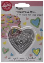 Wilton Fondant Cut-Outs 3/Pkg-Hearts