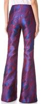 Wes Gordon Filigree Brocade Flare Pants