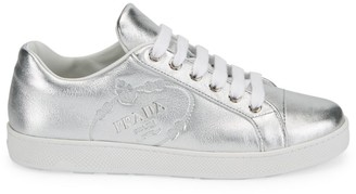 Prada Metallic Leather Sneakers
