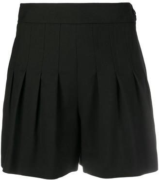 Saint Laurent Pleated-Detail Shorts