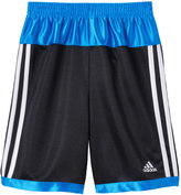 adidas Boys 4-7x Colorblocked Striped Shorts