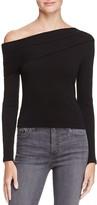 Aqua One-Shoulder Rib-Knit Top - 100% Exclusive
