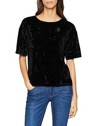 Great Plains Women's Crinkle Velvet Loose Fit Crew Neck Short Sleeve T - Shirt,8 (Manufacturer Size:XS)