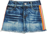 Flowers by Zoe Girl's Denim Skirt with Neon Taping, Size S-XL