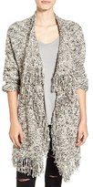 Sun & Shadow Fringe Knit Blanket Cardigan