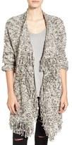 Sun & Shadow Women's Fringe Knit Blanket Cardigan