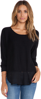 Central Park West Rye Asymmetric Hem Sweater