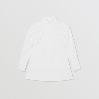 Burberry Puff-sleeve Fil Coupe Cotton Blend Dress