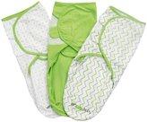 Ziggy Baby Swaddle Blanket Wrap Set - Grey/Green/White - 3 ct