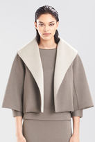 Josie Natori Double Face Bonded Jersey Short Jacket