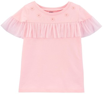 Carter's Girls 4-12 Floral Tulle Top