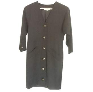 Saint Laurent Black Wool Dress for Women Vintage